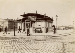 Schwedenplatz Subway Station, c. 1902 (destroyed)<small>&copy Wien Museum</small>