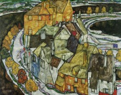 EGON SCHIELE, Crescent of Houses II (Island Town), 1915<small>&copy Leopold Museum / EGON SCHIELE, 1915</small>