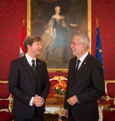 Trevor Traina, US Ambassador to Austria<small>&copy www.bundespraesident.at / Carina Karlovits / HBF</small>
