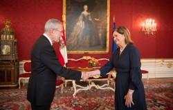 Panamanian Ambassador Annabella Guardia Escoffery de Rubinoff<small>&copy www.bundespraesident.at / Carina Karlovits / HBF</small>