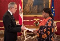 Botschafterin der Republik Burundi, Else Nizigama Ntamagiro<small>&copy www.bundespraesident.at / Peter Lechner / HBF</small>