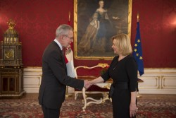 Botschafterin der Tschechischen Republik, Ivana Cervenková<small>&copy www.bundespraesident.at / Carina Karlovits / HBF</small>