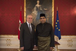 Botschafter von Malaysia, Dato' Ganeson A/L Sivagurunathan<small>&copy www.bundespraesident.at / Carina Karlovits / HBF</small>
