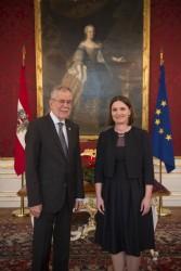Ambassador of the Kingdom of Norway, Kjersti Ertresvaag Andersen<small>&copy www.bundespraesident.at / Carina Karlovits / HBF</small>