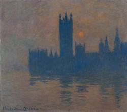 Claude Monet, Das Parlament Sonnenuntergang 1900-04<small>&copy Albertina, Vienna / Kunstmuseen Krefeld / Kaiser Wilhelm Museum</small>