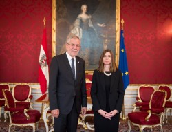 Ambassador of the Republic of Cyprus to Austria: H.E. Ms. Elena Rafti<small>&copy www.bundespraesident.at / Carina Karlovits / HBF</small>