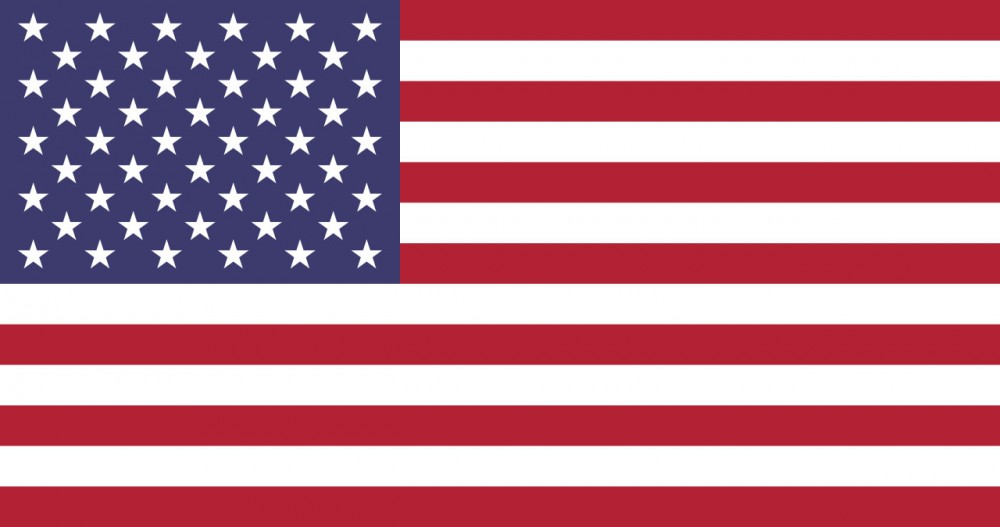 National flag and ensign of the United States of America (USA)<small>© Wikimedia Commons / [Public Domain]</small>
