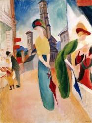 August Macke, Zwei Frauen vor dem Hutladen, 1913<small>&copy The Heidi Horten Collection</small>