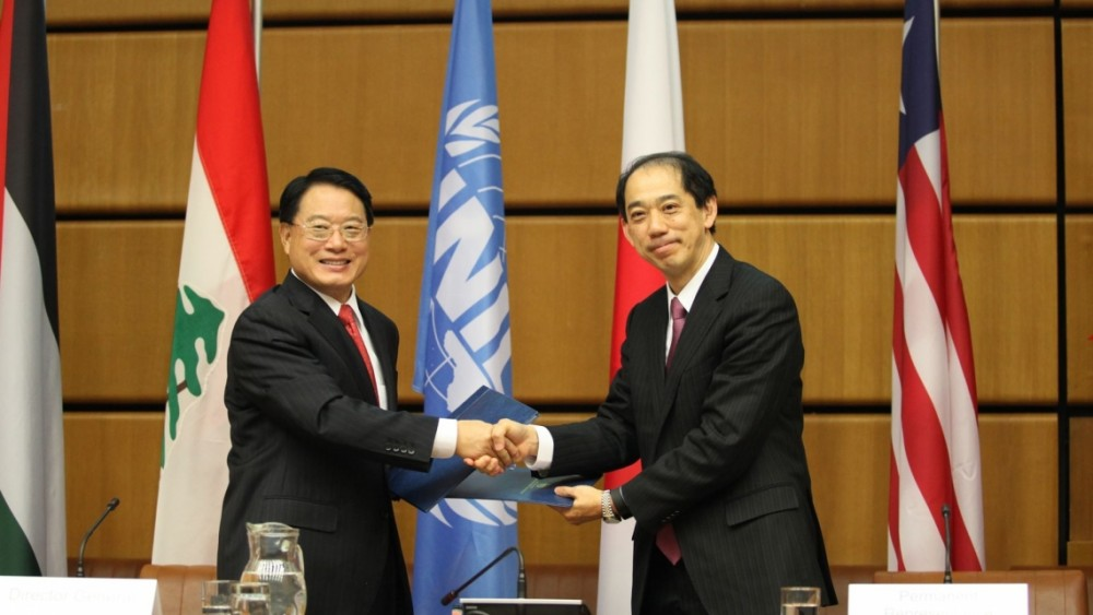 UNIDO's Mr. Li Yong and Ambassador Kitano (right)<small>© UNIDO</small>