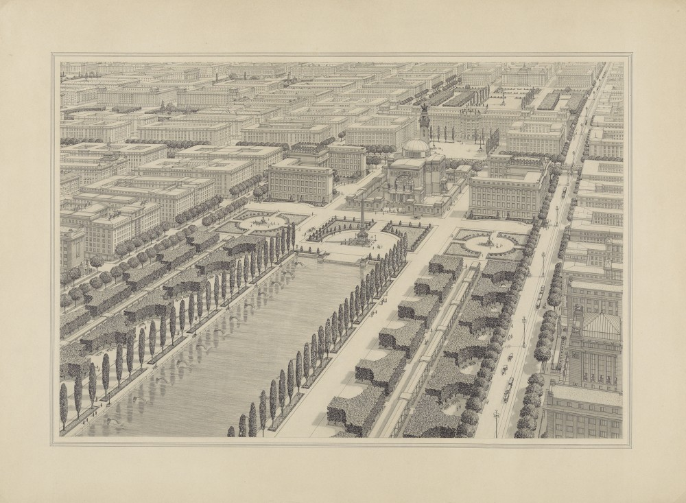 "Proposal 22nd District, Study ""The Great City"", 1911<small>© Wien Museum</small>"