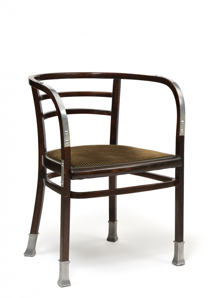 Chair with Armrests from the Postal Savings Bank, 1906<small>© Wien Museum / Photo: Peter Kainz</small>