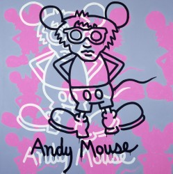 Andy Mouse, 1985<small>&copy The Keith Haring Foundation</small>