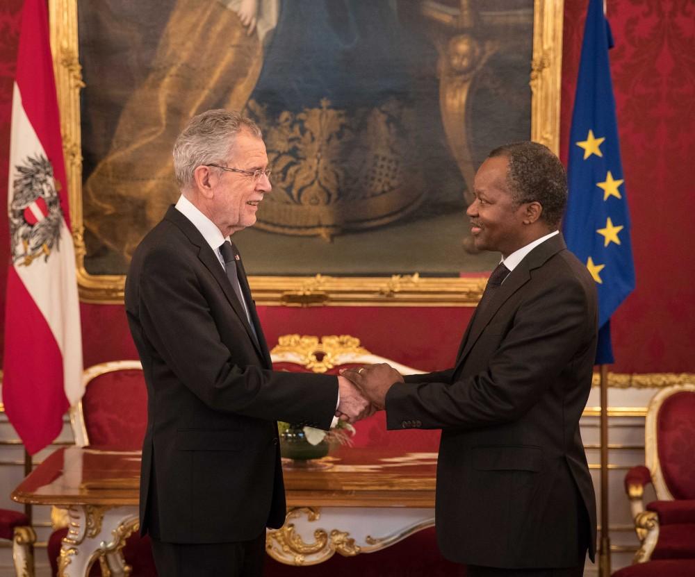 Botschafter der Republik Benin, Eloi Laourou<small>© www.bundespraesident.at / Peter Lechner / HBF</small>