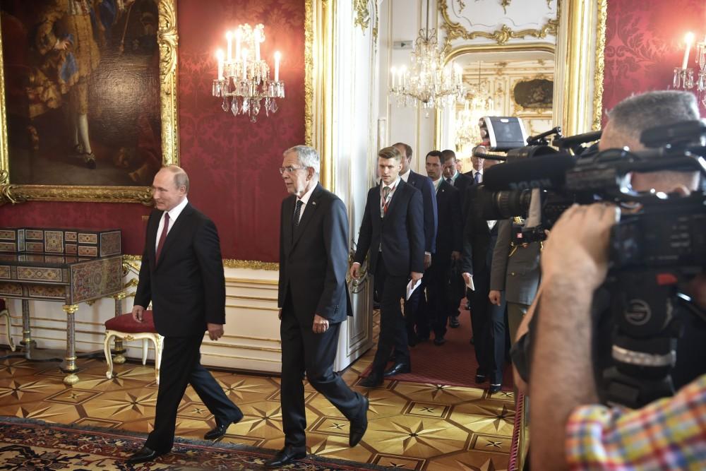 Vladimir Putin at the premises of Van der Bellen<small>© www.bundespraesident.at / Harald Minich / HBF</small>