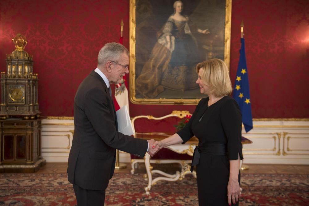 Botschafterin der Tschechischen Republik, Ivana Cervenková<small>© www.bundespraesident.at / Carina Karlovits / HBF</small>