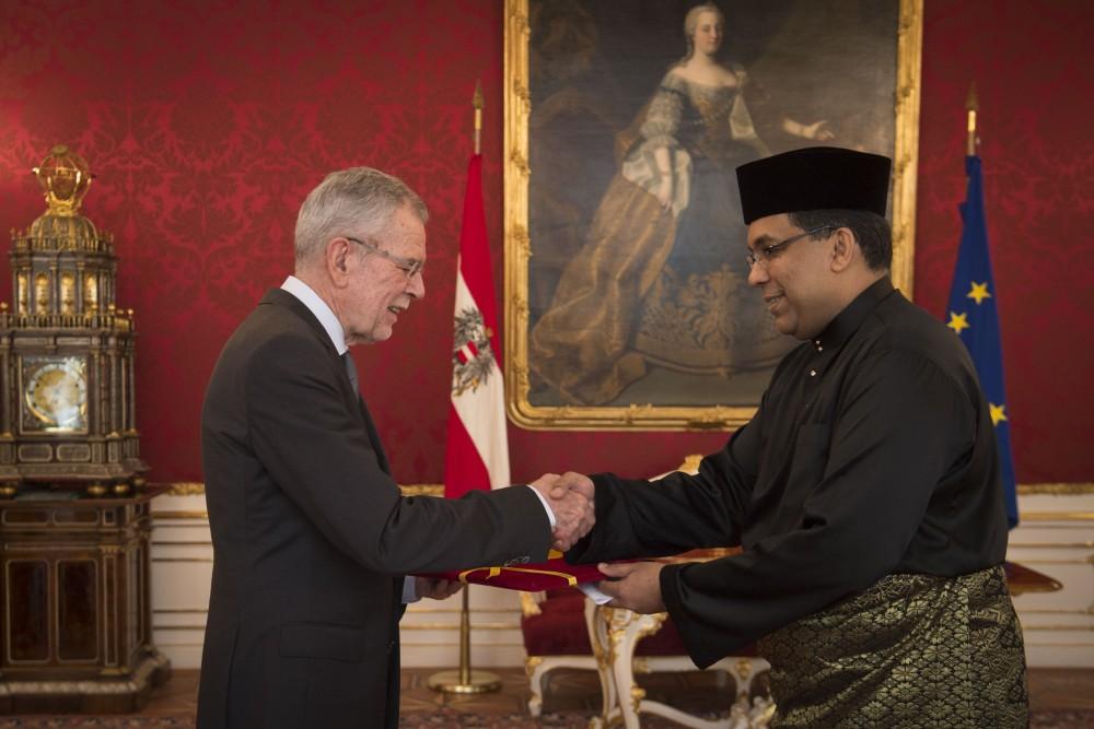 Botschafter von Malaysia, Dato' Ganeson A/L Sivagurunathan<small>© www.bundespraesident.at / Carina Karlovits / HBF</small>