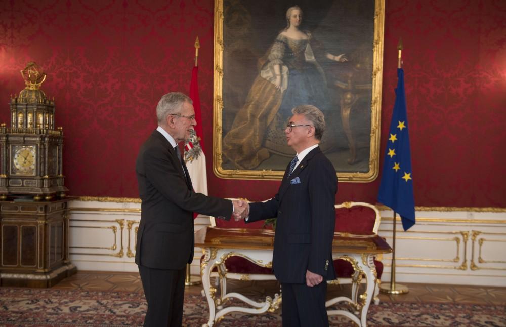 Botschafter der Republik Ecuador, Carlos Alberto Játiva Naranjo<small>© www.bundespraesident.at / Carina Karlovits / HBF</small>
