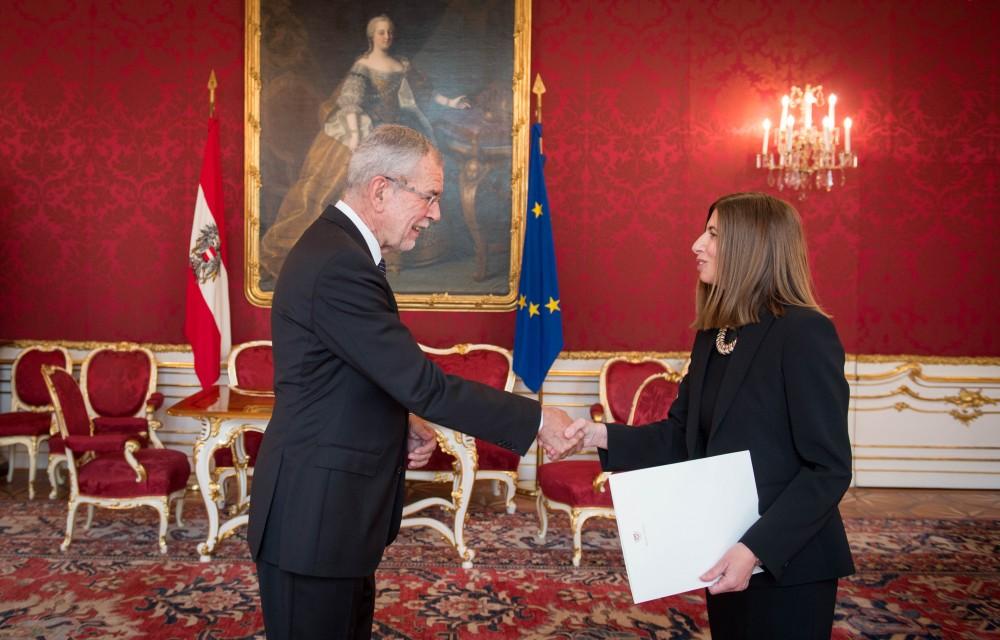 Ambassador of Cyprus to Austria: H.E. Ms. Elena Rafti<small>© Carina Karlovits / HBF</small>