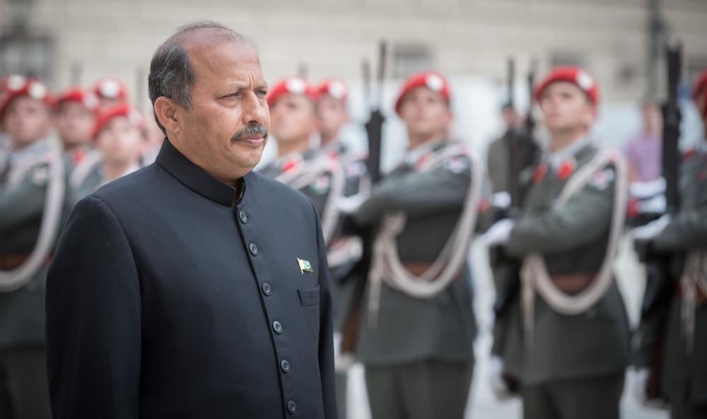 Ambassador of Pakistan to Austria: H.E. Mr. Mansoor Ahmad Khan<small>© Daniel Trippolt/HBF</small>