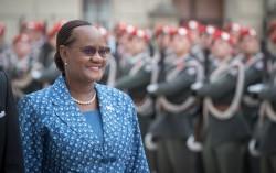 Ambassador of Botswana H.E. Ms. Athalia Lesiba Molokomme<small>&copy Daniel Trippolt/HBF</small>