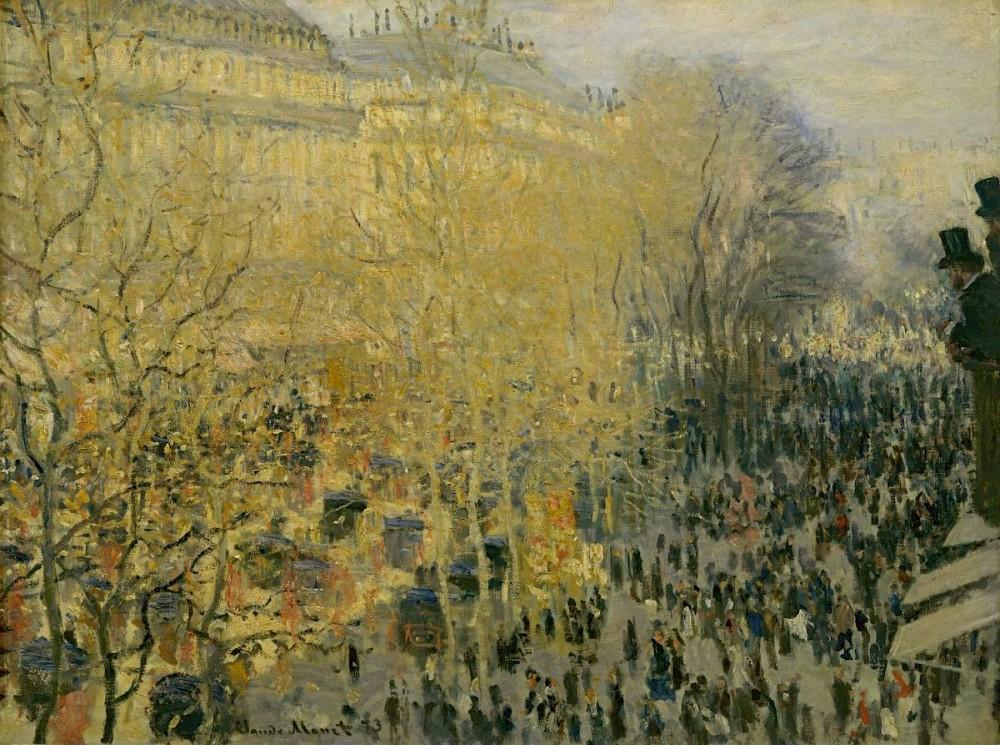 Claude Monet, Der Boulevard des Capucines, 1873<small>© Albertina, Vienna / Pushkin Museum Moskau</small>