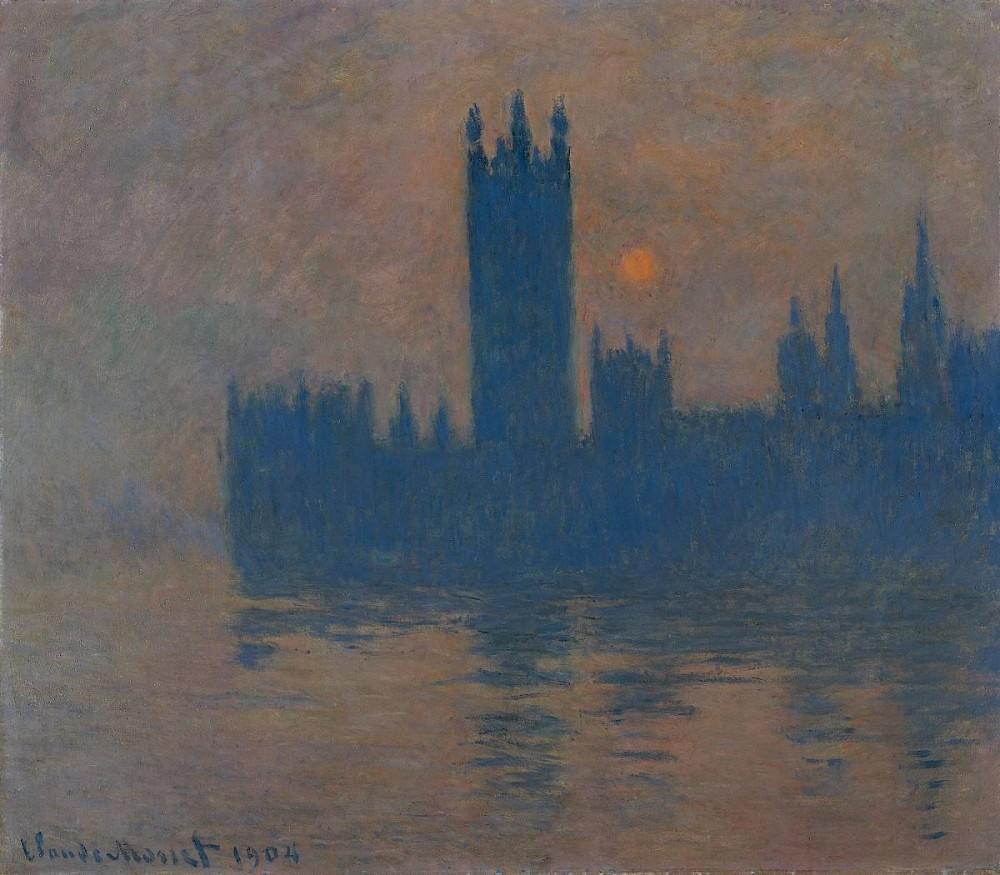 Claude Monet, Das Parlament Sonnenuntergang 1900-04<small>© Albertina, Vienna / Kunstmuseen Krefeld / Kaiser Wilhelm Museum</small>