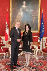 Ambassador of Chile to Austria, H.E. Mrs. Gloria Navarrete Pinto<small>&copy www.bundespraesident.at / Peter Lechner / HBF</small>