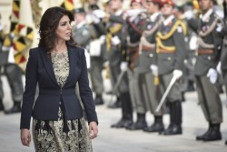 Ambassador of Jordan to Austria - Mrs. Leena Al-Hadid<small>&copy www.bundespraesident.at / Harald Minich / HBF</small>