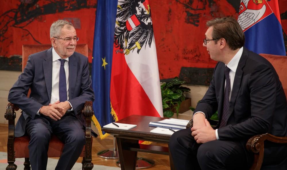 Serbian President Aleksandar Vucic and Alexander van der Bellen<small>© Österreichische Präsidentschaftskanzlei / Peter Lechner/HBF</small>