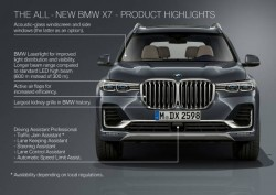 The first-ever BMW X7 - Product highlights (10/2018)<small>© BMW AG</small>