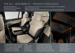 The first-ever BMW X7 - Product highlights (10/2018)<small>&copy BMW AG</small>