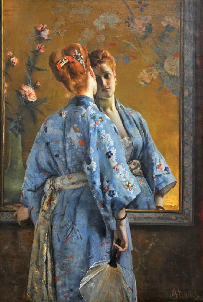 Alfred Stevens - Die japanische Pariserin, 1872<small>© Musée des Beaux-Arts de La Boverie, Lüttich</small>