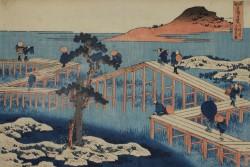 Katsushika Hokusai - Seltene Ansichten berühmter Brücken<small>&copy MAK / Privatsammlung, Wien</small>