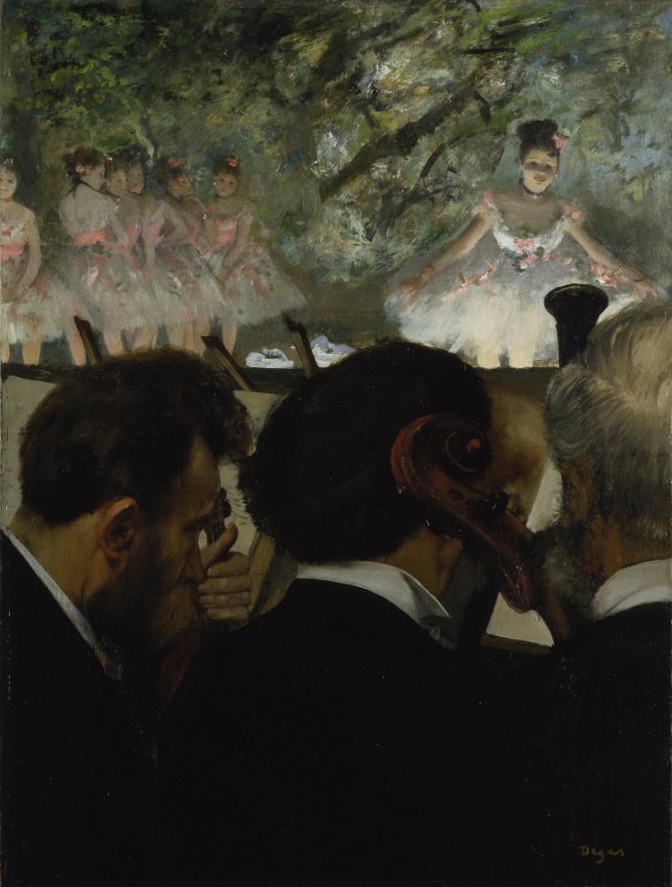 Edgar Degas - Orchestermusiker, 1872<small>© Städel Museum/U. Edelmann/ARTHOTHEK</small>