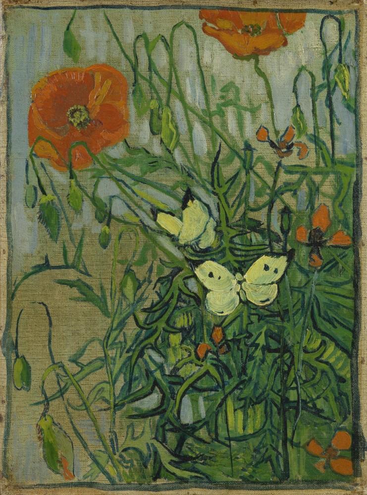 Vincent van Gogh - Schmetterlinge und Mohnblumen, 1889<small>© MAK / Van Gogh Museum, Amsterdam (Vincent van Gogh Foundation)</small>