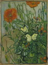 Vincent van Gogh - Schmetterlinge und Mohnblumen, 1889<small>&copy MAK / Van Gogh Museum, Amsterdam (Vincent van Gogh Foundation)</small>