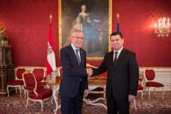 Ambassador of Uzbekistan to Austria, H.E. Mr. Sherzod Asadov<small>&copy www.bundespraesident.at / /Karlovits, Bauer und Heinschink / HBF</small>