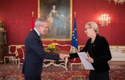 Ambassador of Sweden: H.E. Ms. Mikaela Kumlin Granite<small>&copy www.bundespraesident.at / /Karlovits, Bauer und Heinschink / HBF</small>