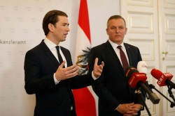Press Conference: Chancellor Kurz and Defense Minister Kunasek<small>&copy Bundeskanzleramt (BKA) / Dragan Tatic</small>