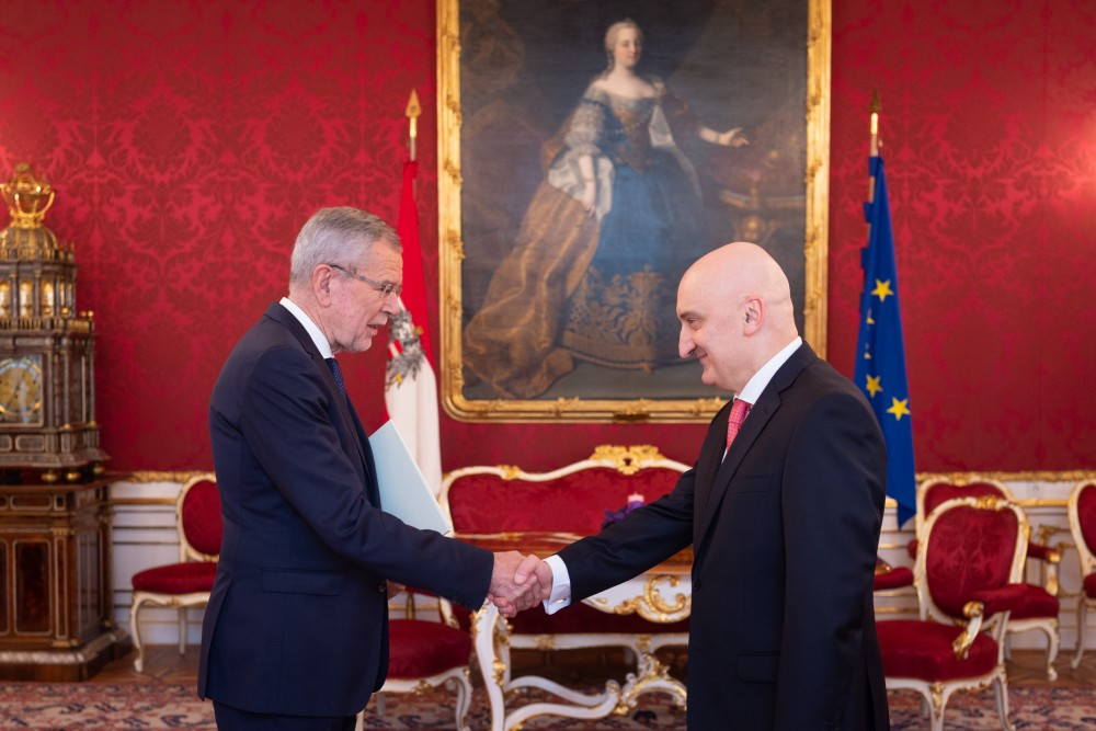 Ambassador of Georgia, H.E. Mr. David Dondua<small>© www.bundespraesident.at / Carina Karlovits / Daniel Trippolt/HBF</small>