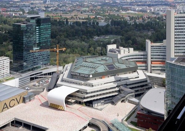 ACV Austria Center Vienna, VIC Vienna International Centre<small>© Wikimedia Commons / Bwag (CC-BY-SA-4.0)</small>