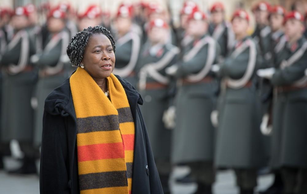 Ambassador of Liberia: H.E. Ms. Youngor Sevelee Telewoda<small>© www.bundespraesident.at / Carina Karlovits / Daniel Trippolt/HBF</small>