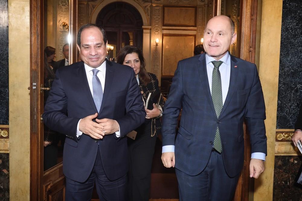 Abdel Fattah el-Sisi (left) and Wolfgang Sobotka<small>© Parlamentsdirektion / Johannes Zinner</small>