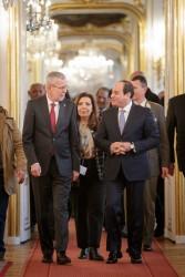 Abdel Fattah el-Sisi (right) with Van der Bellen<small>&copy www.bundespraesident.at / Peter Lechner / Daniel Trippolt/HBF</small>