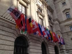 OSCE Flags Vienna Hofburg<small>&copy Vindobona.org</small>