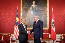 Mahathir Mohamad and Van der Bellen<small>© Österreichische Präsidentschaftskanzlei / Peter Lechner/HBF</small>