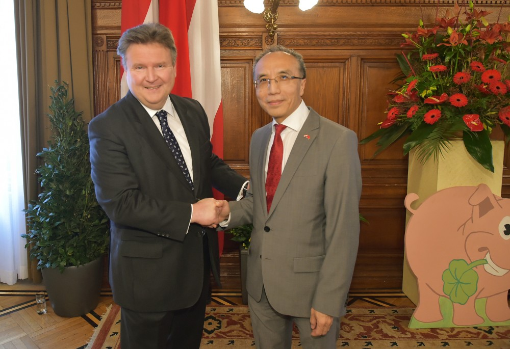 Chinese New Year in Vienna - Mayor Ludwig and H.E. Li Xiaosi<small>© Magistrat der Stadt Wien / C.Jobst/PID</small>