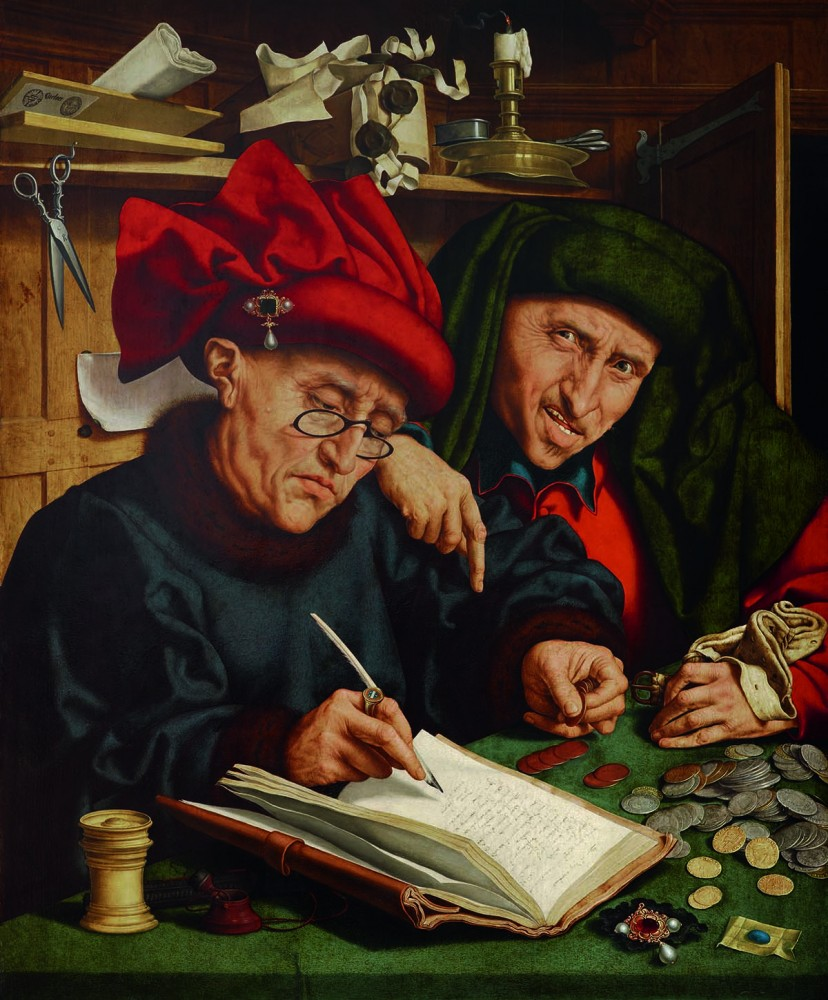 Quentin Massys der Ältere, The Tax Collectors, late 1520s<small>© LIECHTENSTEIN. The Princely Collections, Vaduz–Vienna</small>
