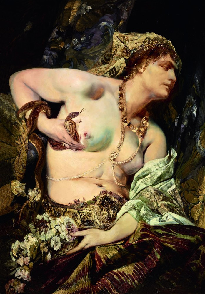 Hans Makart, The Death of Cleopatra, 1875, Oil on panel<small>© LIECHTENSTEIN. The Princely Collections, Vaduz–Vienna</small>