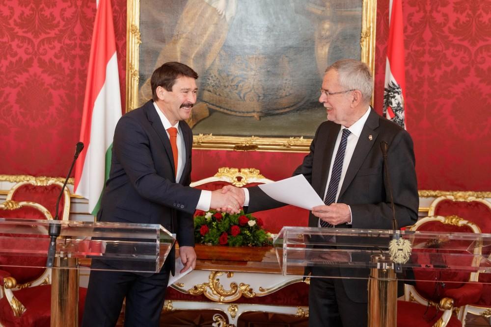 President János Áder paid an official visit to Austria.<small>© Österreichische Präsidentschaftskanzlei / Peter Lechner/HBF</small>